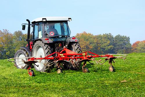 Bild på traktor