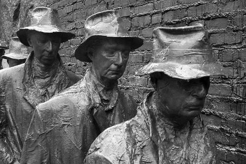 Bild på minnesmärke den stora depressionen