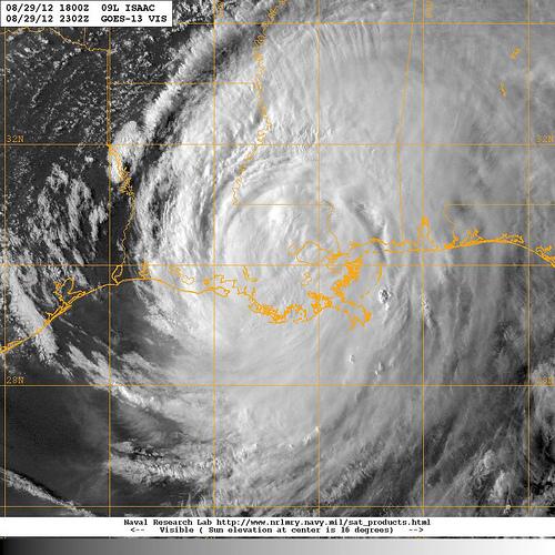 Radarbild stormen Isaac
