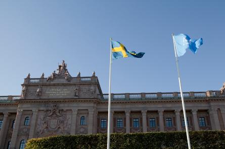 Foto på riksdagshuset