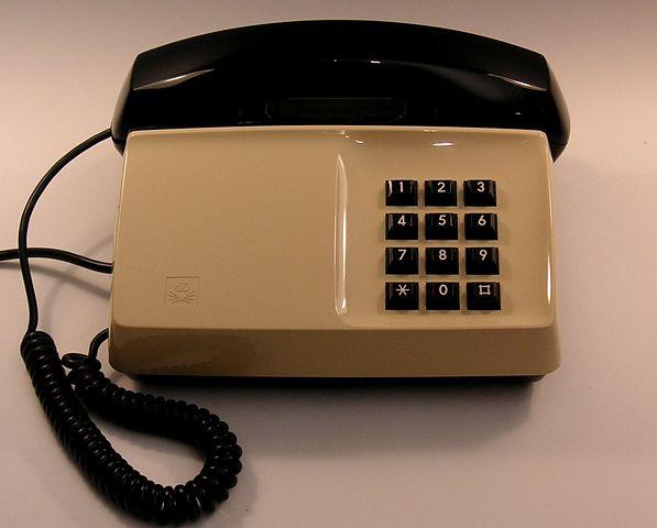 Bild på en Diavox telefon