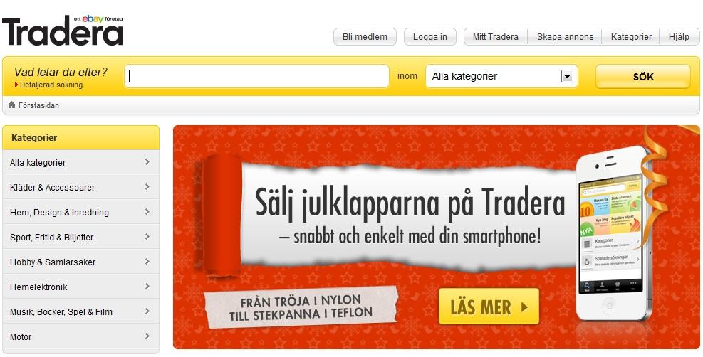 Bild på auktionssajten Tradera