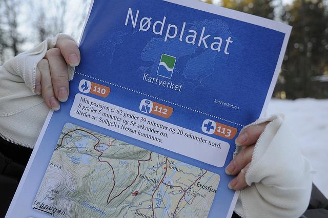 Nödplakat Norge