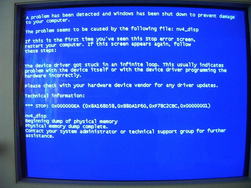 BSOD Blue Screen of Death