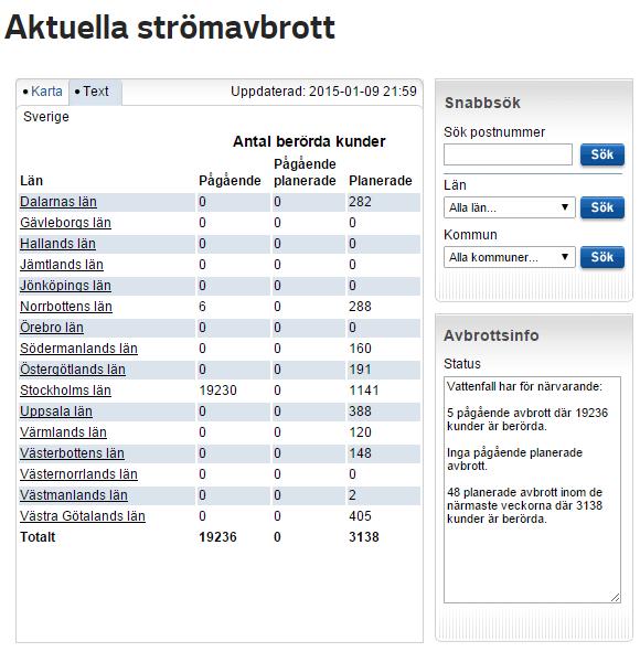 Strömavbrott stockholm