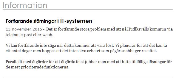 Hudiksvall it-system