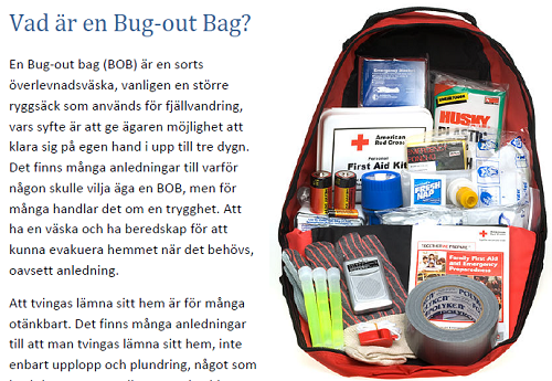 Vad är en Bug-out bag?