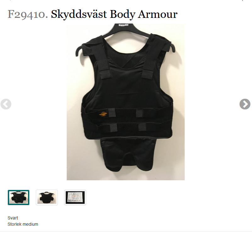 Skyddsväst Body Armour